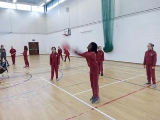 6th Class enjoying Spikeball
