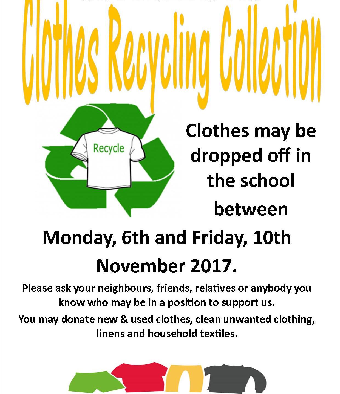Clothes Recycling Poster  Nov 2017