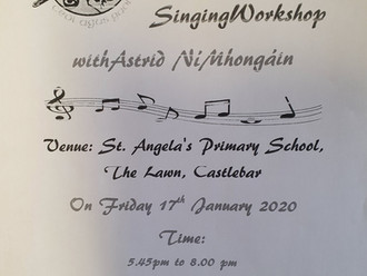 Singing Workshop on Friday