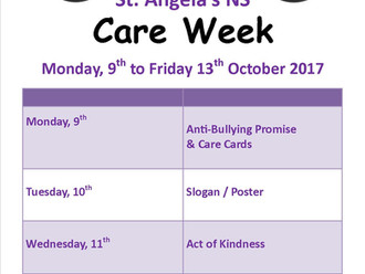 Care Week here October 9th to 13th