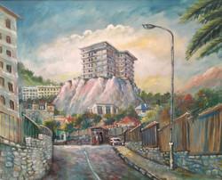 37 Tour sur le rocher de Gibraltar 80X100 2012