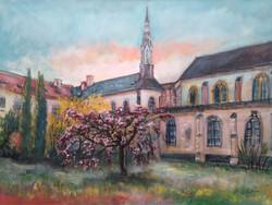 48 Cour Monastere Benedictines Bayeux 60X80 2017