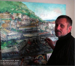 George au travail en Gibraltar 2012