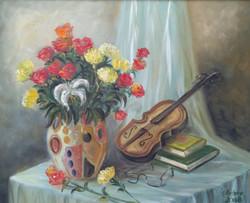 49 Fleur et violon 54X65 2008
