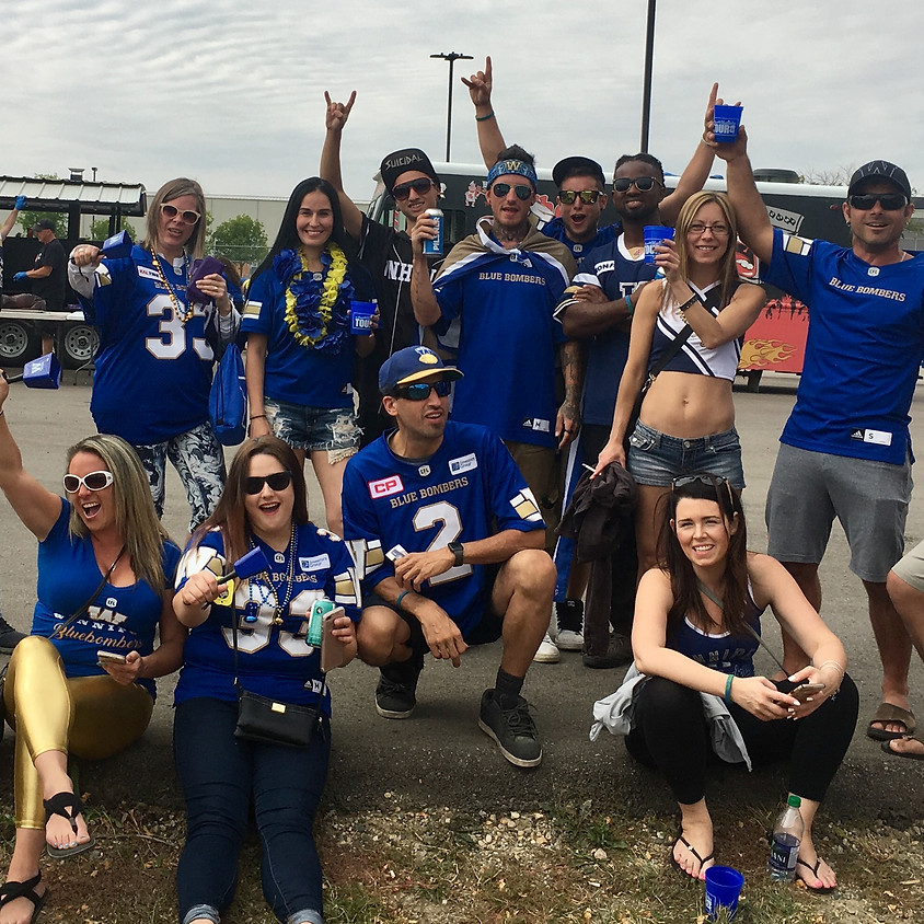 Bomber Bus Game Day Pickup Stampeders vs Bombers
