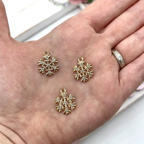 Snowflake Charm (Rose Gold)
