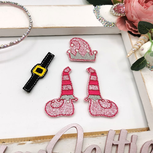 Elf Bow Parts (Pink Glitter)