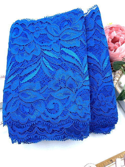 Luxury Lace Fabric Strips - Royal Blue