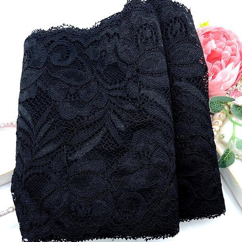 Luxury Lace Fabric Strips - Black