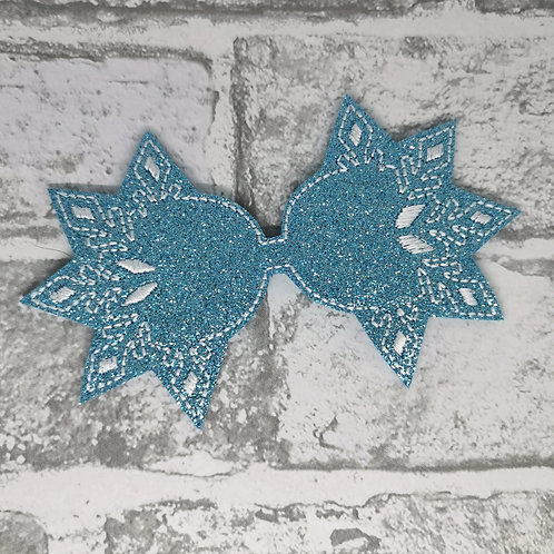 "Ice Blue Snowflake Tail 5"""