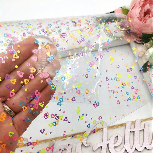 Love Heart Confetti Transparent