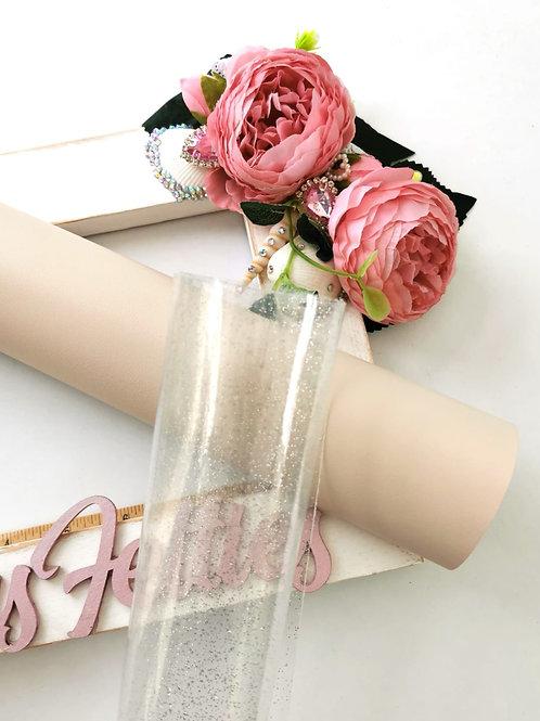 Silver Glitter Transparent