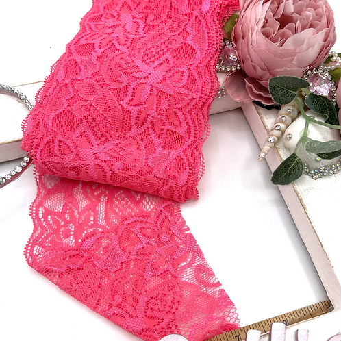 Luxury Lace Fabric Strips (Slim) - Hot Pink