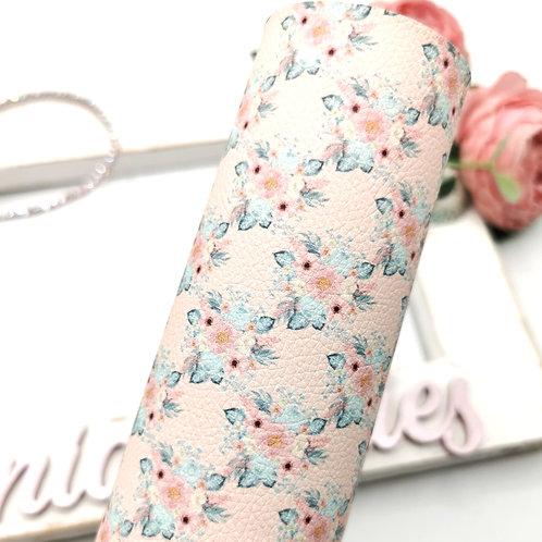 Floral Blush Leatherette