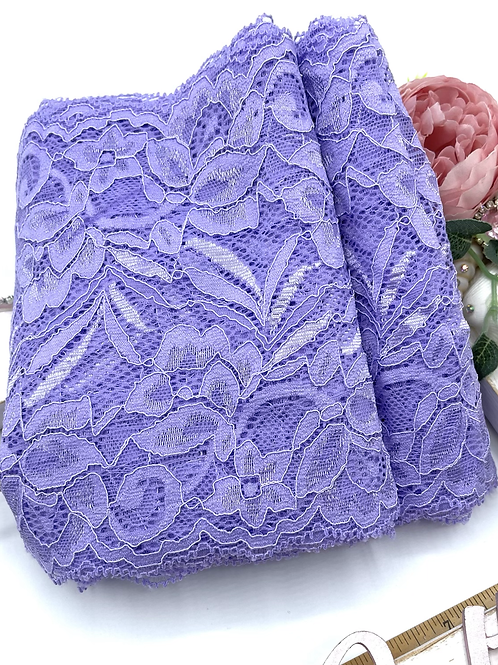 Luxury Lace Fabric Strips - Lilac