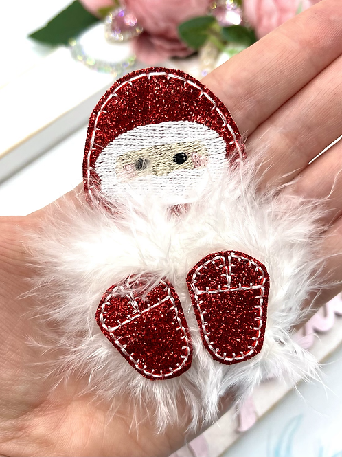 Fuzz-tums!! Sparkly Santa