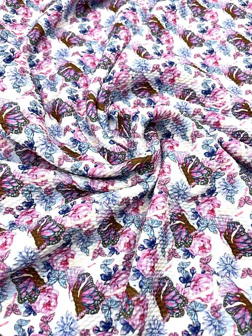 Butterflies & Roses Bullet Fabric