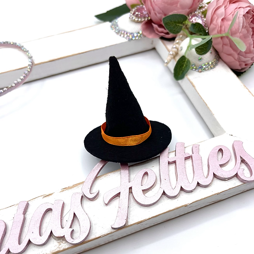 Mini Black Witch Hats (Pack of 5)