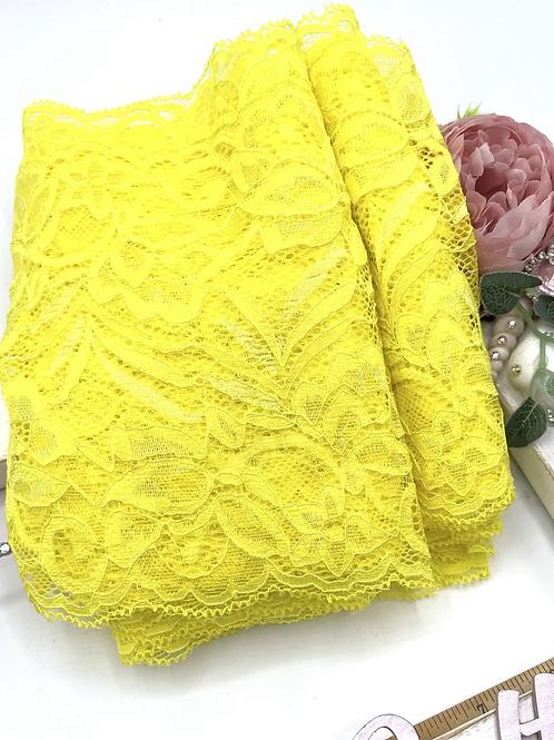 Luxury Lace Fabric Strips - Yellow
