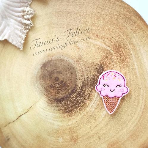 Ice Cream & Sprinkles Kawaii Feltie (Pack of 4)