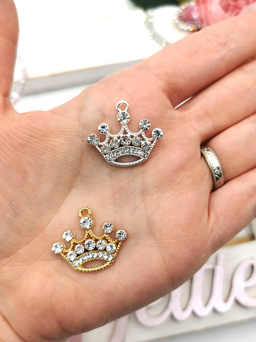 Sparkly Crown Charm