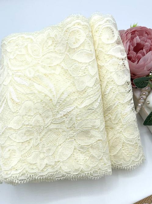 Luxury Lace Fabric Strips - Vintage Cream