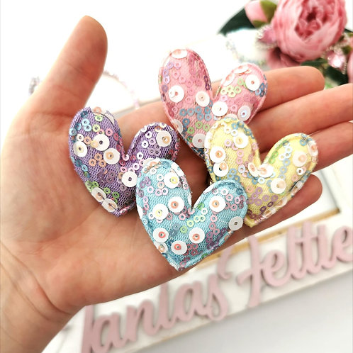 Embellishment - Padded Sequin Heart