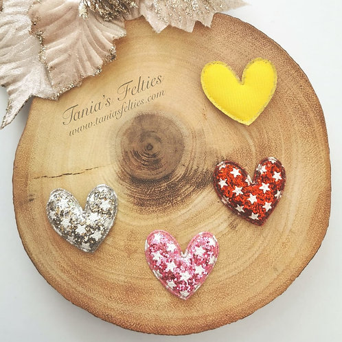 Embellishment - Padded Hearts (Tall Style)