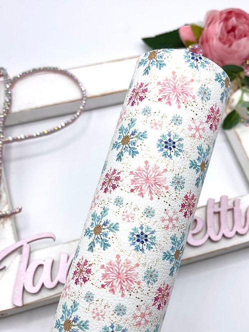 Pretty Snowflakes Leatherette
