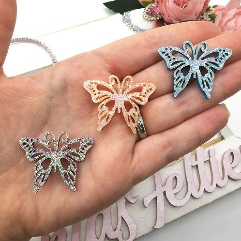 Mini Glitter Butterfly Appliques
