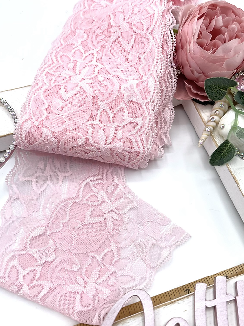 Luxury Lace Fabric Strips (Slim) - Pale Pink