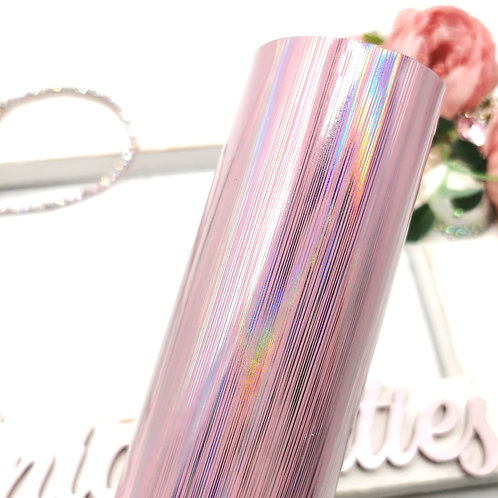 Pretty Pink Holographic Leatherette