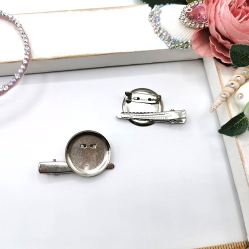 Round Disk Badge / Pin Clip