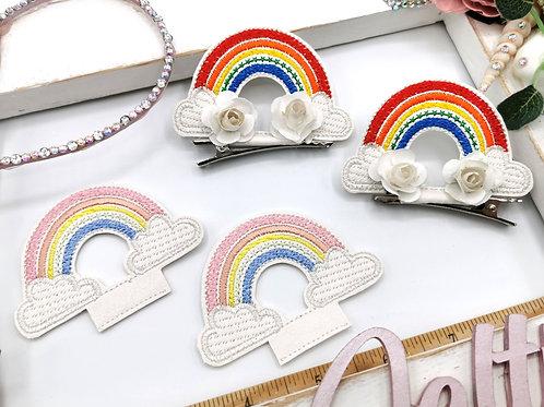 Embroidered Rainbow Sliders (Pair)
