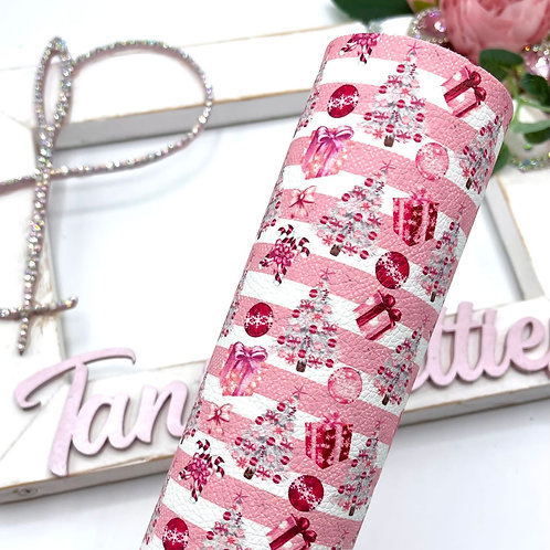 Christmas Pink Leatherette
