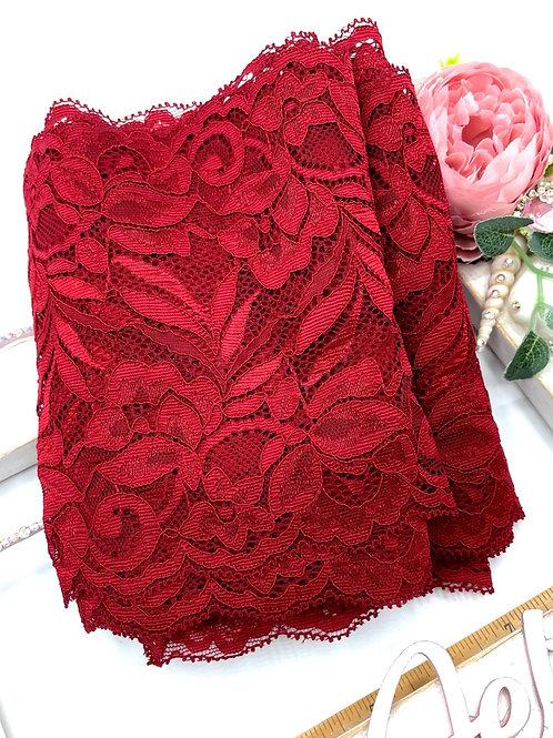Luxury Lace Fabric Strips - Wine