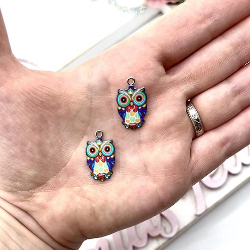 Colourful Owl Charm