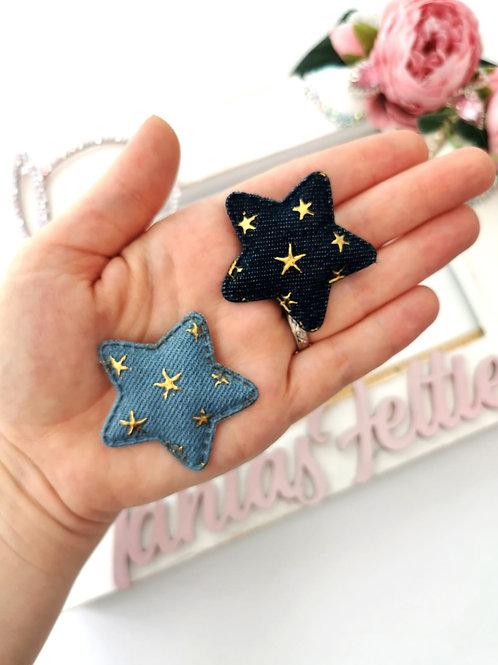 Embellishment - Padded Denim Star