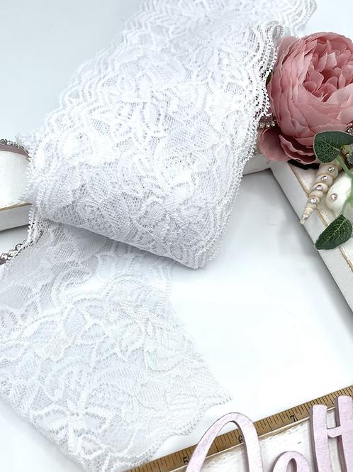 Luxury Lace Fabric Strips (Slim) - White