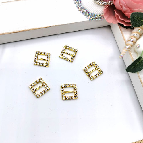 Embellishment - Square Buckles (Gold)