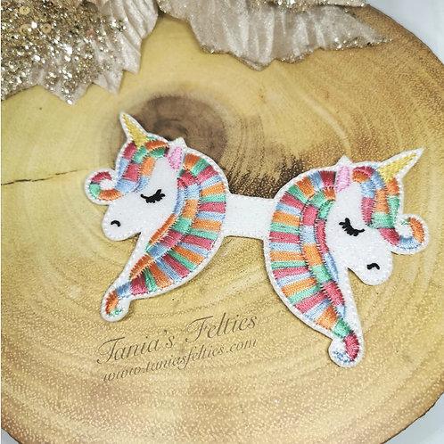 Over The Rainbow Unicorn Bow Tails (Glitter)
