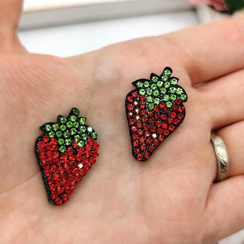 Embellished Strawberry Applique