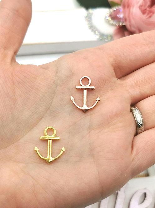 Rose Gold / Gold Anchor Charm