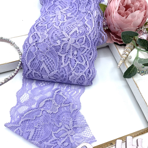 Luxury Lace Fabric Strips (Slim) - Lilac
