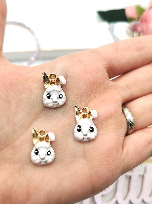 White Rabbit Easter Charm