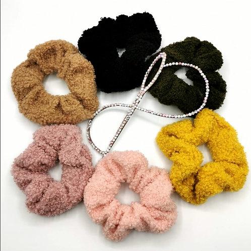 Teddy Bear Scrunchies