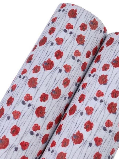 Poppy Field Leatherette