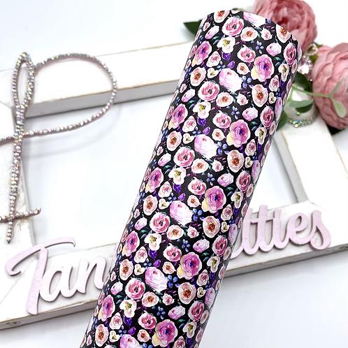 Peonies Floral Leatherette