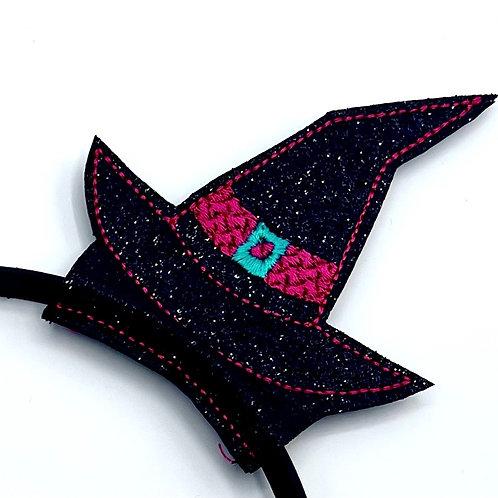 Witch Hat Headband Sliders (Glitter)