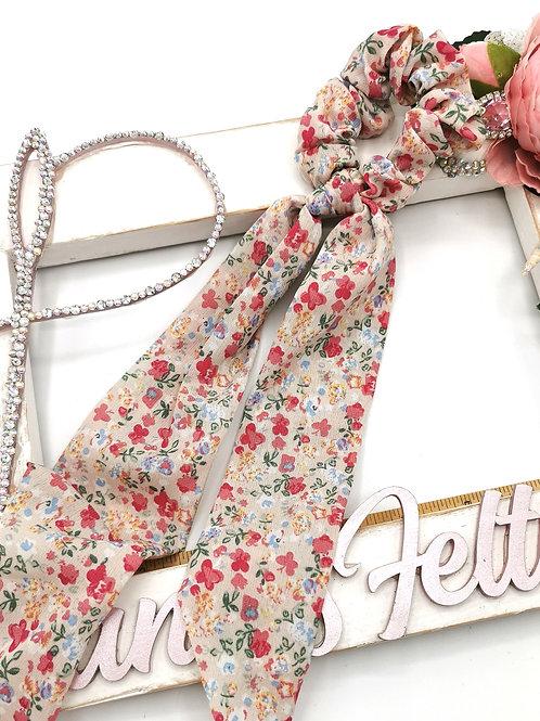 Floral Tail Chiffon Scrunchies